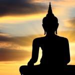 Abbildung Buddha Sonnenuntergang