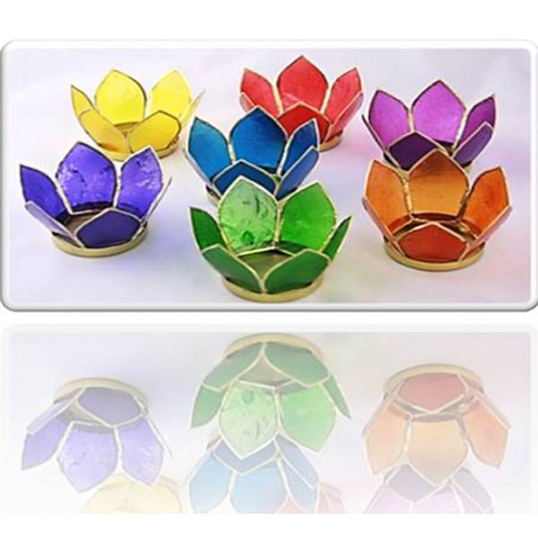 7 Chakra-Lotus-Teelichthalter