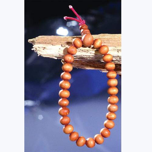Sandelholz-Hand-Mala,  27 Perlen