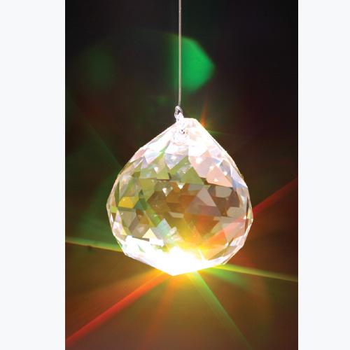 Facettierte Kristallkugel, Ø ca. 2 cm