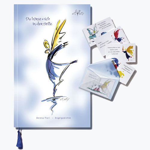 Gedichtband mit Engelkarten - Du hörst mich in der Stille